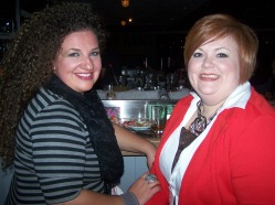 Me (left) and Lenae (right) at the Oyster Bar.