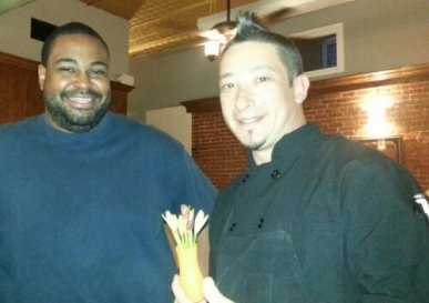 Chef/Owner Seni Alabi-Isama (left) with Head Chef, Stephen Griffin (right).