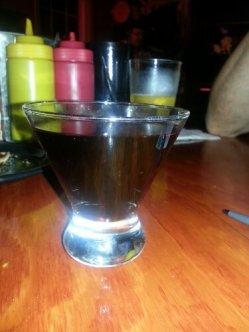 Red wine served in a fantastic goblet.
