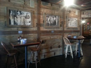 The bar area is filled with ample seating.