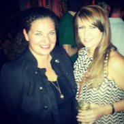 My friend April (right) and I enjoying the Daniel Johnson Band on the dance floor at Gnat's on a Friday night.