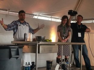 Anthony Lamas; Food Network's Extreme Chef Winner moderated by Editor in Chief Maggie from The Local Palate