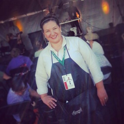 Stylin' in my Savannah Food & Wine Festival volunteer apron