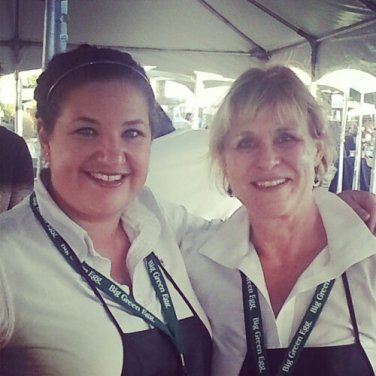 Martha Nesbit (right) and I worked together in the Celebrity Chef tent.
