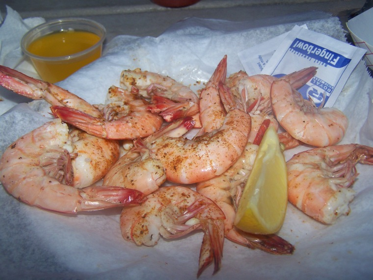 The Wild Georgia Shrimp at Sting Ray's Seafood are caught and served fresh from the Atlantic.