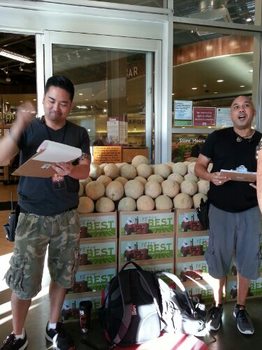 We shopped for ingredients at Whole Foods Market.