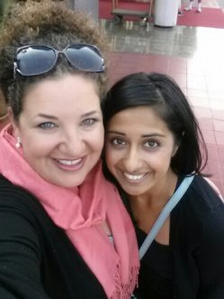 Me (left) and Pastry Chef Vidya Krishnan (right).