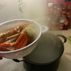 Crab Leg facial!