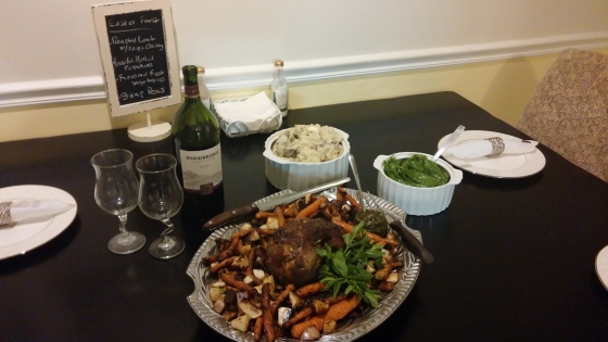 An Easter Feast of Roasted Leg of Lamb and Mint Chutney