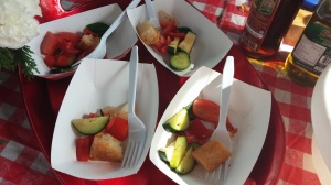 Samples of Grilled Panzanella