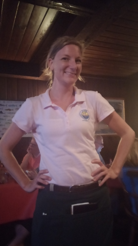Our waitress, April.
