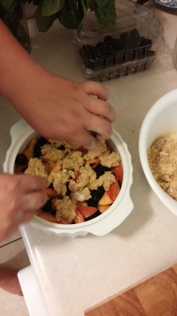 Blackberry-Peach Crumble