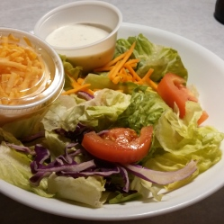 I ordered a house salad with my meal. Nothing fancy here, but satisfying.