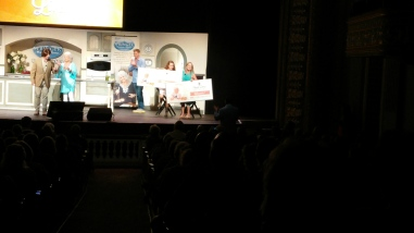 Two audience members won subscriptions to the Paula Deen Network for playing the game.