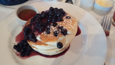 Blueberry Pancakes...comfort food at its finest!