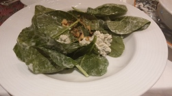 Walnut Spinach Salad with Blue Cheese