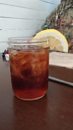 Sweet Iced Tea served in a Mason Jar with lemon - the way it should be.