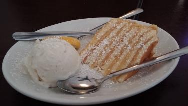 7 Layer Lemon Cheesecake with Vanilla Bean Ice Cream