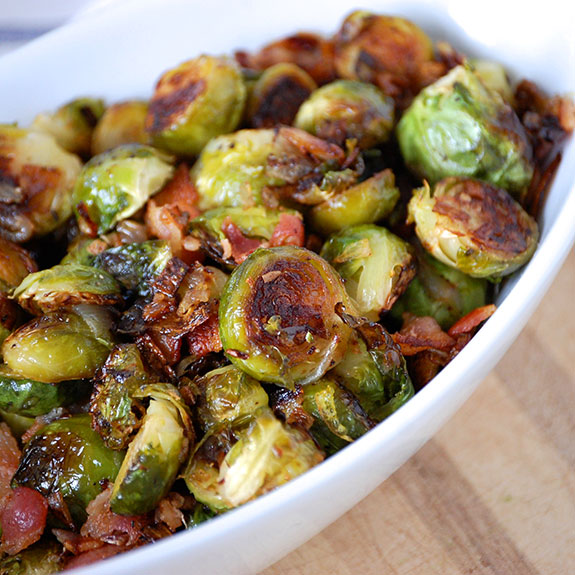 Roasted Brussels Sprouts with Smoked Bacon Photo Credit: Paleogrubs.com