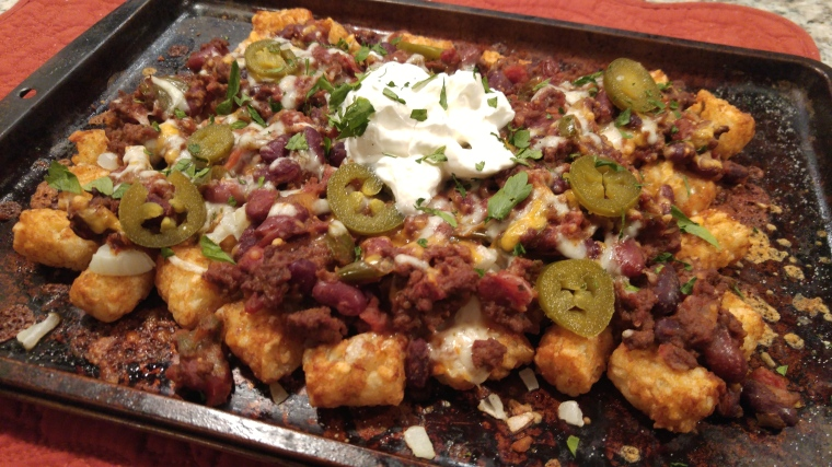 Tater Tot Nachos Inspired by St. James Gate Irish Pub