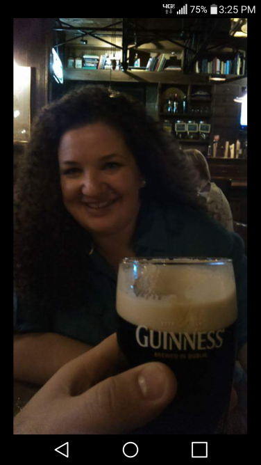 """My handsome posted this pic of me to Facebook the night we visited the Pub, with the caption, """"Life is good."""""""