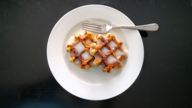 Allow the icing to serve as your syrup.