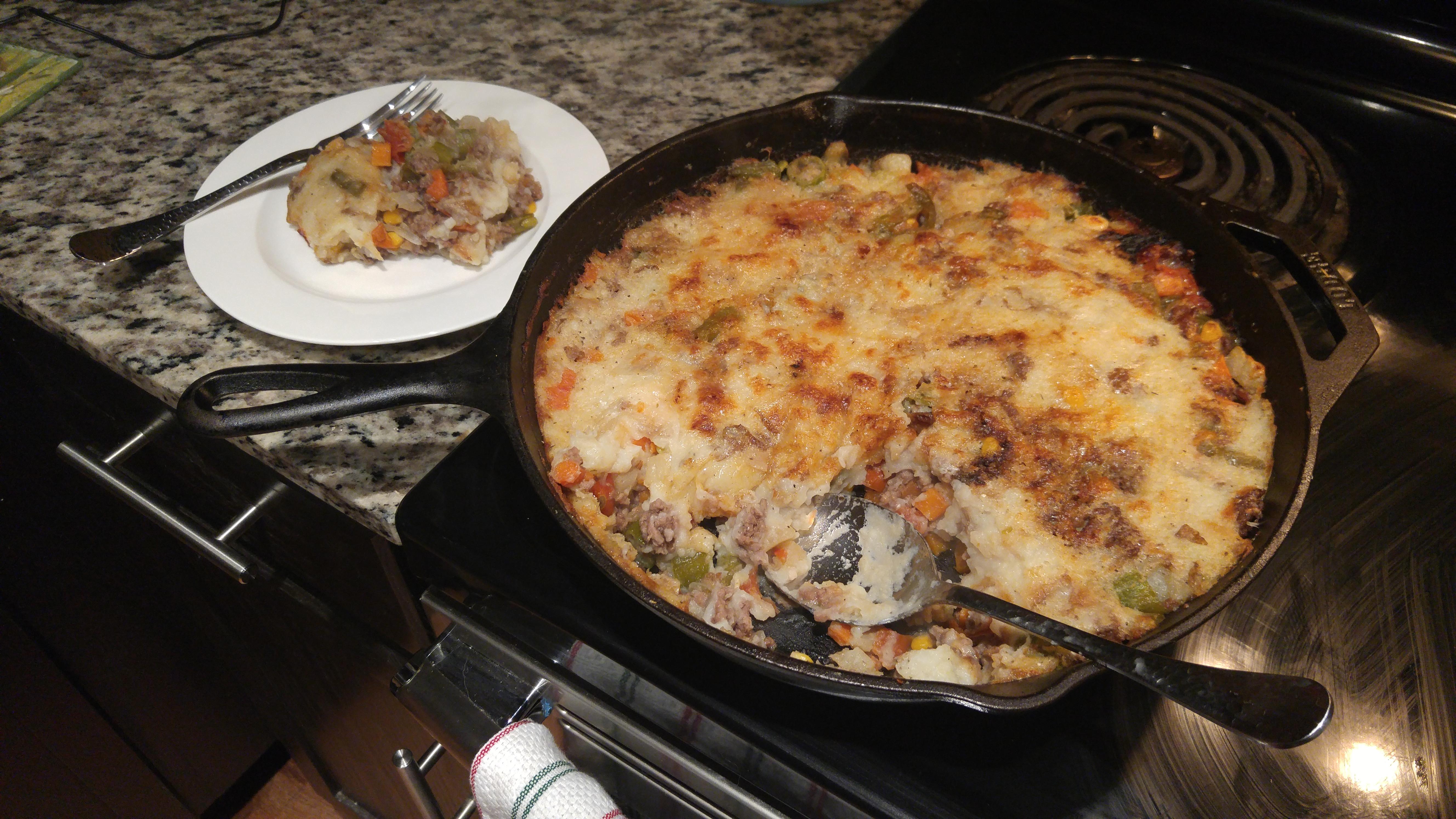 Parmesan Shepherd's Pie – Cast Iron SkilletStyle
