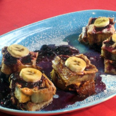 Bobby Flay's Peanut Butter French Toast is a fun take on the classic PB & J. Photo Credit: FoodNetwork.com