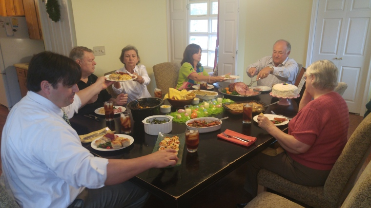 The Lingenfelsers hosted a traditional Easter Sunday dinner for family in Claxton, Georgia.