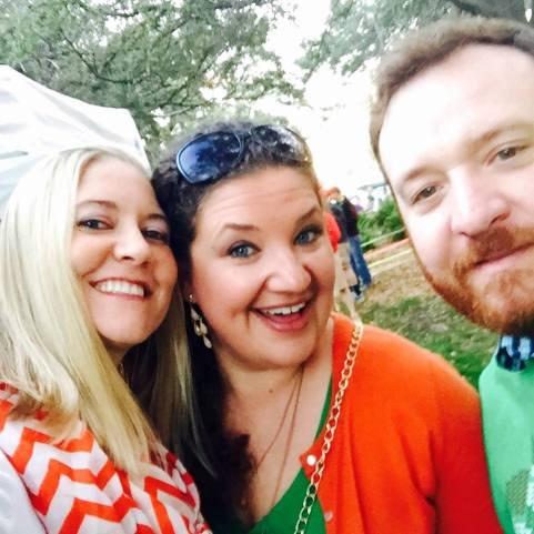 Having fun with special friends, Will and Sarah Forrester.