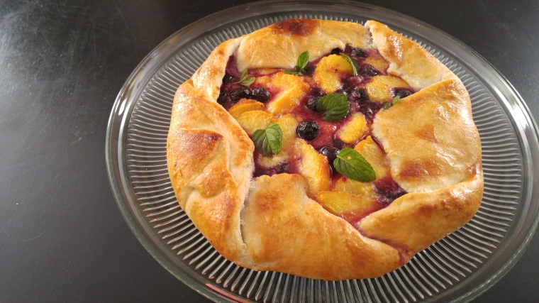 Georgia Peach and Wild Blueberry Galette