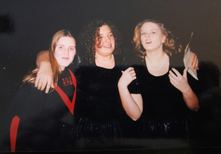Charity (left), me (center) and Angela (right) after a chorus concert in the 10th grade. The three of us have been best friends for more than 20 years.