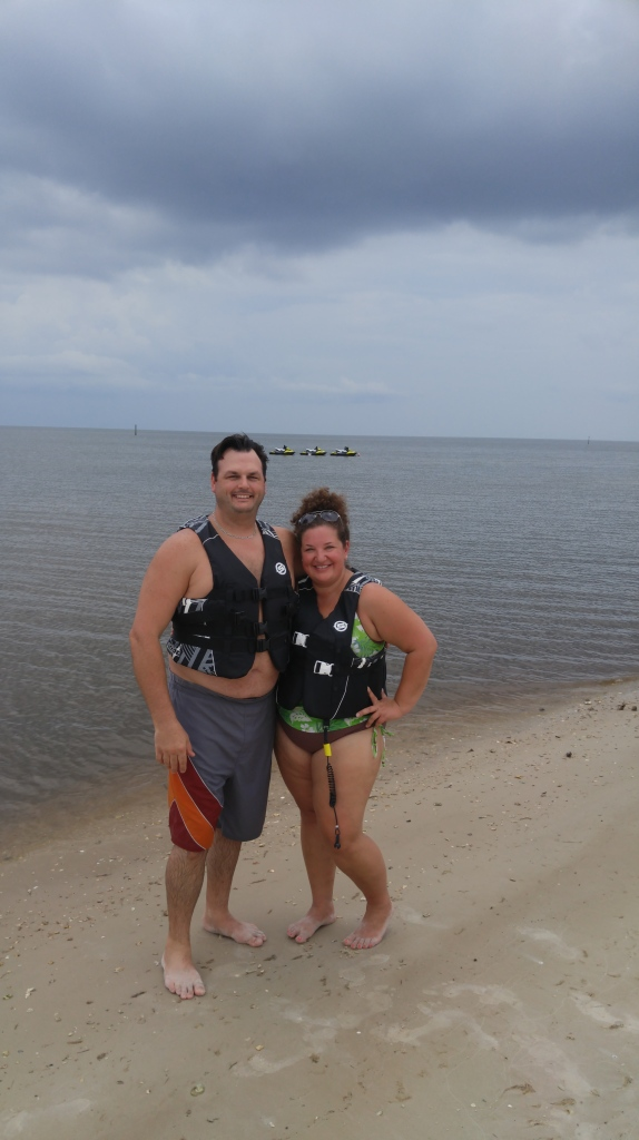 We had all of Pass Christian Beach to ourselves the day we went jet skiing. SO nice!