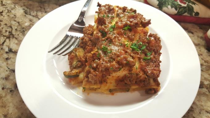 Vegetable Venison Lasagna is a lean dish full of flavor.