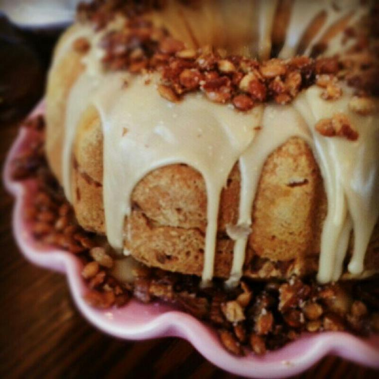 Cranberry-Apple Pumpkin Bundt Cake