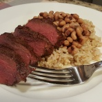 Grilled Venison Back Strap with Hoppin' John