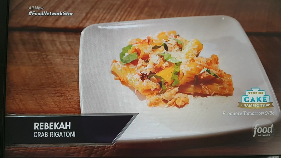 Food network food network star episode 3 crab rigatoni forumfinder